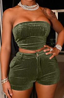 مثير أزياء تشوه الصدر السراويل قطعتين لديها جيب TK6179
