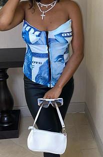 غطاء أنبوب Boob مطبوع على الموضة الأوروبية من قطعتين CYY006