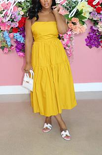 فستان كاجوال صيفي طويل بدون أكمام AL161
