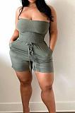 أزياء مثير المعتوه أنبوب أعلى فضفاض جيب السراويل حللا BLX8218