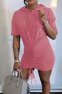 فستان كاجوال بغطاء للرأس بتصميم مبطن بتصميم كاجوال WM019