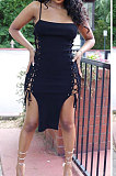 مثير المرأة العيينة ضمادة لون نقي عزى ميدي اللباس MDF5240