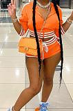 بلوزة بغطاء للرأس مخططة على الموضة + شورت رياضي مثير مجموعات BLX8215