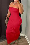 فستان طويل مثير بدون ظهر بجيب بدون حمالات من Euramerican HY5227