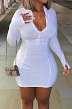 أزياء عارضة ضيق زيبر حزمة الأرداف اللباس CL6069