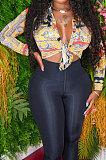 أزياء مثير طباعة قمصان طويلة الأكمام BLE2372