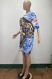 فستان نسائي كاجوال بطباعة AMM8355