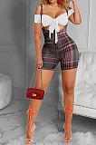 أزياء المرأة عارضة التنانير حزام كوندول منقوشة مجموعات GLS8144