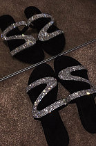 Crystal Shoes Slippers Flat Beach Shoes XK9060