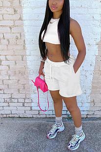Casual Sports Pocket Vest Loose Shorts Sets HT6069