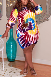 فستان نسائي بأكمام طويلة وجيوب جانبية مقاس كبير TC085