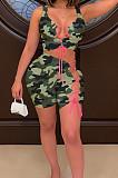 Fashion Casual Camouflage Bind Two-Piece YMM9070