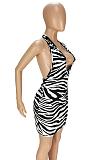 فستان صيفي مثير بطبعة عميقة برقبة على شكل حرف V ANK6014