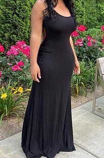 Summer Sexy Sling Backless Long Dress YMM9071