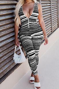 أزياء شريطية عميق الخامس زيبر سترة Bodycom حللا YM188