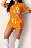 أزياء ضيقة هول رسالة الطباعة اللباس YM181