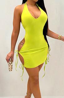 High Elastic Bind Hollow Out Sexy Mini Dress YYZ755