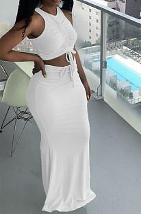 Euramerican Fashion Pit Bar Ruffle Long Dress Sets YT3278