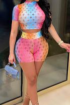 أزياء ملونة جوفاء من منظور عارضة قطعتين YT3275
