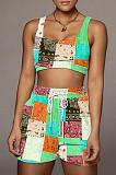 Casual Bohemian Printing Fashion Beach Sports Sets F88365