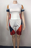 Positioning Printing Casual Sport Plus Shorts Sets TB5296