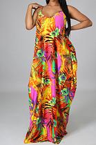 Fashion Summer V Neck Loose Sexy Sling Dress SMR10468