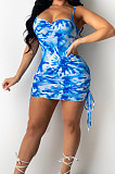 Fashion Digital Pringing Sling Sexy Dress SMR10296