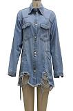 Euramerican Fashion Women Cowboy Coat SMR10251