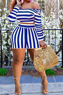 Personality Printing Stripe Plus Shorts Sets PY824