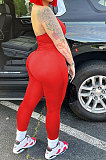 Euramerican Women Zipper Pure Color Sexy Casual Sport Bodycon Jumpsuits YMM09080