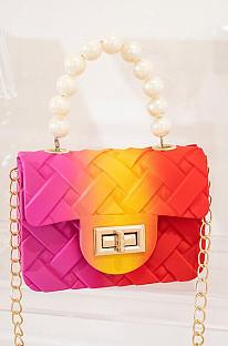 Wholesale PVC Children Jelly Bag Gradient Color Mini Handbags BNS960