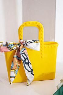 Wholesale PVC Women Jelly Bag Printed Scarves Mini Handbags BNS115