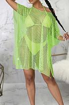 Green Sexy Fashion Super Elastic Bug Tanlge Prevent Waste Their Beach Dress SMR10370-2
