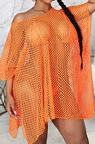 Orange Sexy Fashion Super Elastic Bug Tanlge Prevent Waste Their Beach Dress SMR10370-1