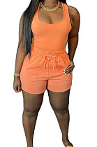 Orange Sexy Vest Shorts Stakerope Casual Shorts Sets SFM0274-9