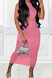 Black Sexy Perspective Sleeveless Round Collar Strapless Long Dress Three-Piece MTY6561-1