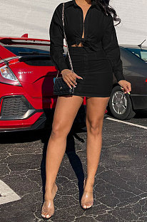 Black Fashion Women Long Sleeve Sexy Invisibility Zipper T Shirt/Shirt Dress NL6086-2