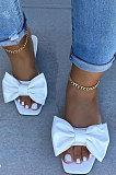 Women Beach Shoes Sandals Bowknot Flat Slippers XK8034