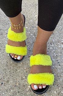 Women's Shoes Velvet Sandals Fashion Casual Slippers XK9105