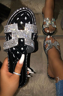 Crystal Women's Shoes Fashion Shiny Slippers XK8058