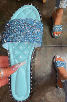 Lady Sandals Fashion Shoes Casual Sequins Slippers XK8059