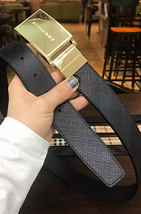Gold-tone & Silver-tone Buckle Leather Belt