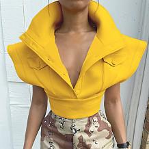 Casual Fall Turn Down Collar Tops Solid Bodycon Women Coats LHGC452