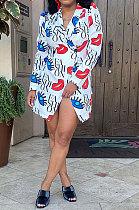 White Women Fashion Casual Autumn Long Sleeve Cardigan Coat GLS10037