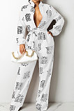 White Women Casual Loose Fashion Long Sleeve Casual Jumpsuit With Waistband SDD9802-3