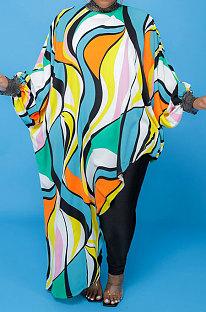 Yellow Women Loose Half Turtle Neck Long Sleeve Irregular Long Plus Size Tops T Shirts CCY1673-4
