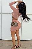 Black Women Korea Velvet Sexy Fashion Hollow Out Dew Waist Skirts Sets QMX1014-2