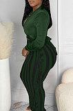 Peacock Blue New Casual Long Sleeve Deep V Neck Crop Tops Cute Tassel  Hip Skirts Sets S66316-2