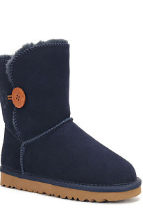 Navy Blue Button Round Toe Shoes Snow Boots FN5803-11
