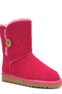 Rose Red Button Round Toe Shoes Snow Boots FN5803-8